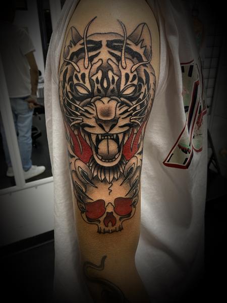 Tattoos - Tiger Skull - 143079