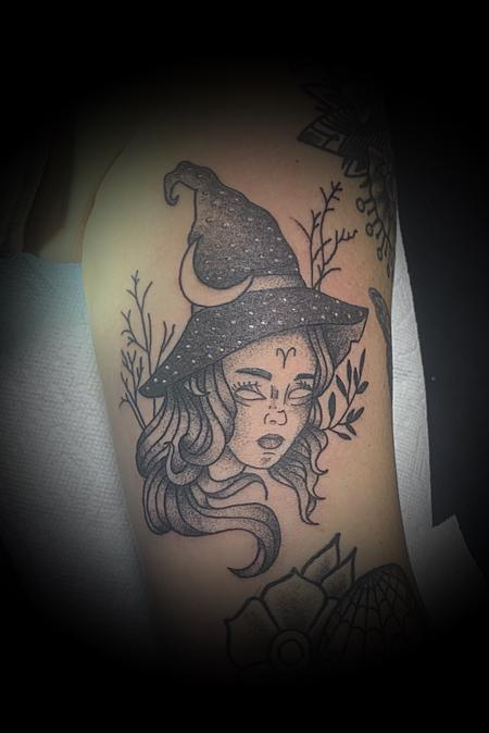 Tattoos - Dotwork witch - 140489