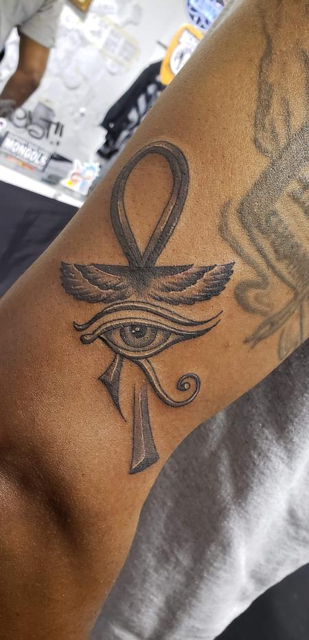 Tattoos - Ankh tattoo eye of Horus  - 141321