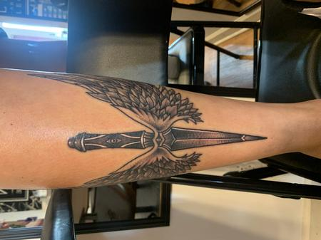 Tattoos - Dagger with wings - 142297