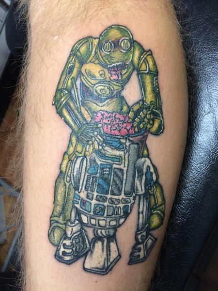Tattoos - C3PO eating R2D2's brains  - 134571