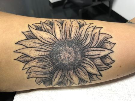 Tattoos - Stipple sunflower  - 134523
