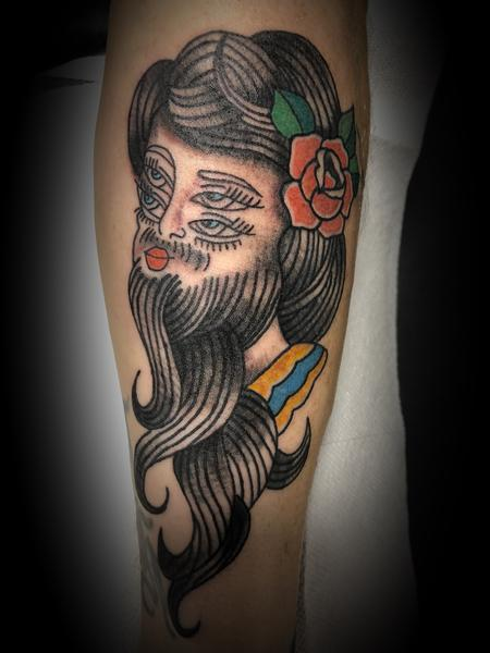 Tattoos - Bearded lady - 135017