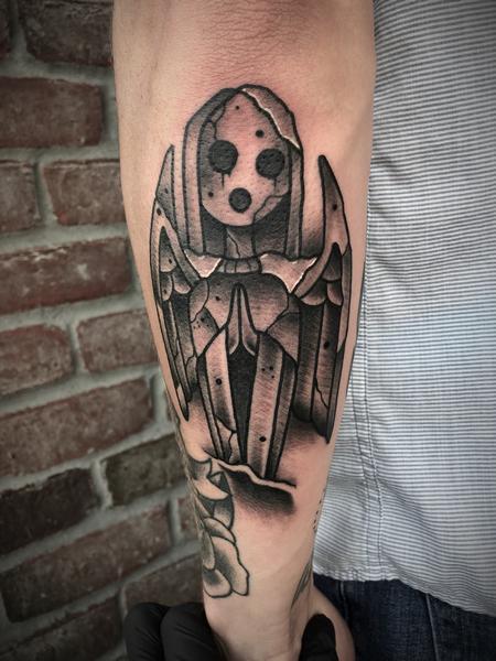 Tattoos - AFI stone statue - 134060