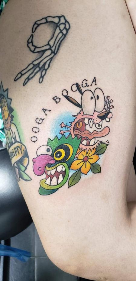 Tattoos - Courage the cowardly dog tattoo - 142004