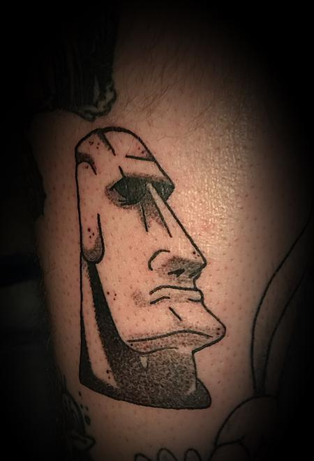 Tattoos - Easter Island head - 137264