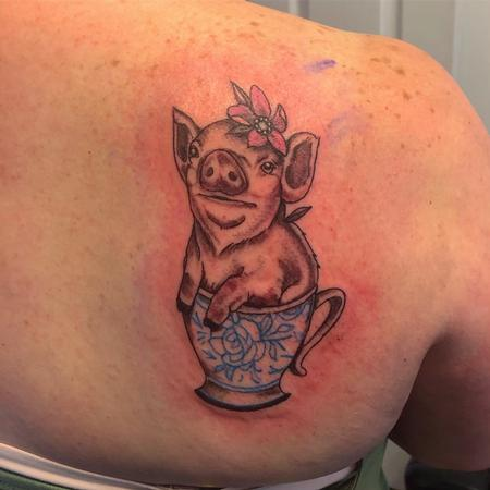 Tattoos - Pig in a cup - 142621