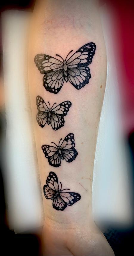 Tattoos - Butterflies dotwork - 143355
