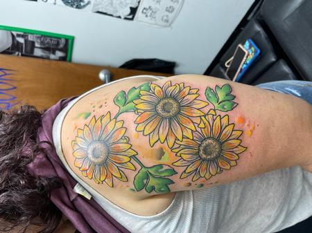 Tattoos - Sun water flower colors  - 143294