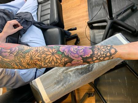 Tattoos - Peony mandala geometric - 141234