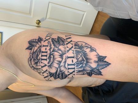 Tattoos - Rose Roman numerals - 140614