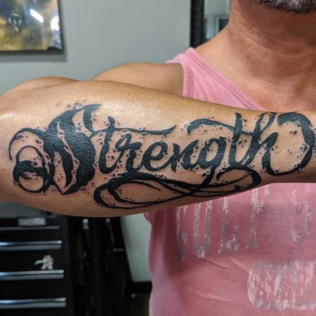 Tattoos - Strength Script - 139415