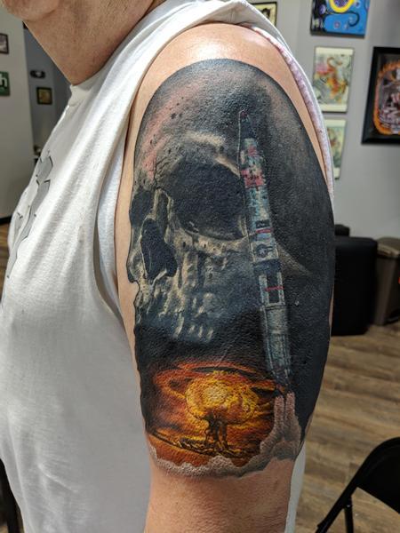 Tattoos - Skull Rocket Explosion  - 139417