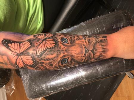 Tattoos - In Progress Snow Leopard - 142217