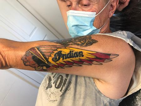 Howard Bell (PORTLAND) - Indian Motorcycle Logo 10 days into healing
