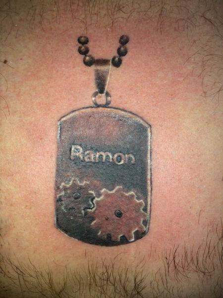 Tattoos - custom dog tag - 133900