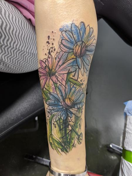 Tattoos - Watercolor flowers - 142048