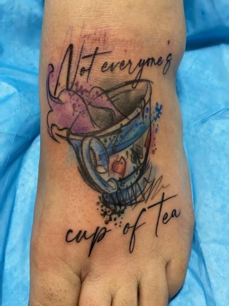 Tattoos - Watercolor tea cup - 143315