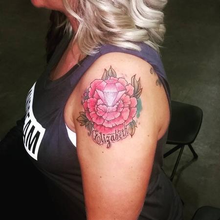 Tattoos - flower diamond - 133862