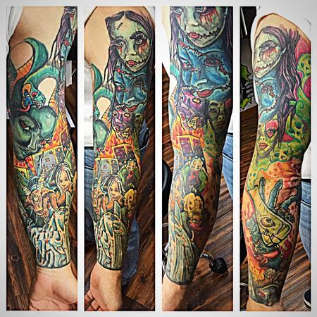 Tattoos - faces sleeve - 133866