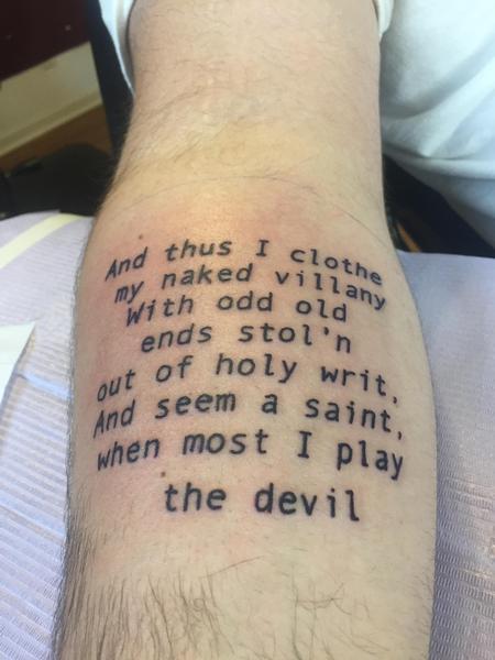 Tattoos - Master Shakespeare  - 129760