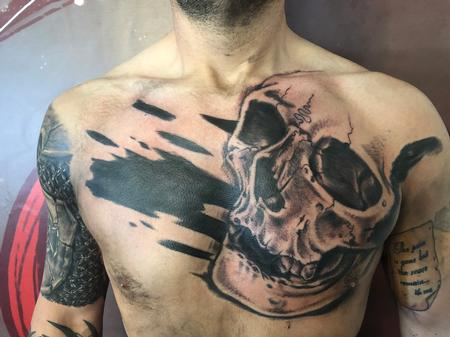 Tattoos - skull chest piece  - 138155