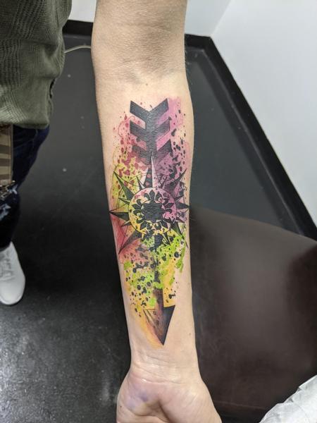 Tattoos - Watercolor arrow - 143318