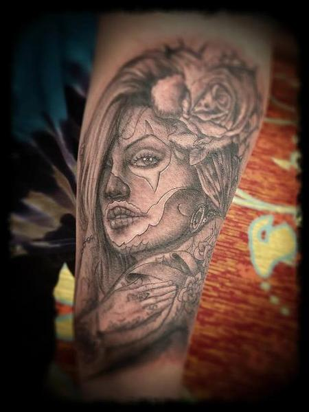 Tattoos - black and gray tattoo - 63685