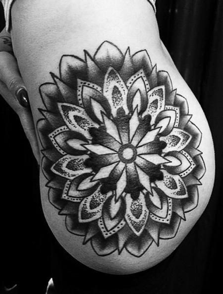 Tattoos - Traditional black and gray geometry tattoo, Frichard Adams Art Junkies Tattoo  - 108234