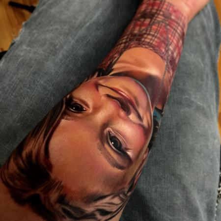 Tattoos - Realistic color portrait tattoo, Brent Olson Art Junkies Tattoo  - 101967