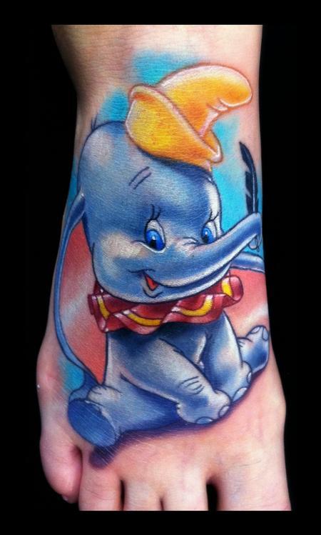 Tattoos - Dumbo Brent Olson Art Junkies Tattoo - 62412