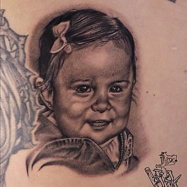 Tattoos - black and grey realistic portrait tattoo - 69488