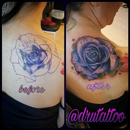 Tattoos - Flower Coverup - 130235