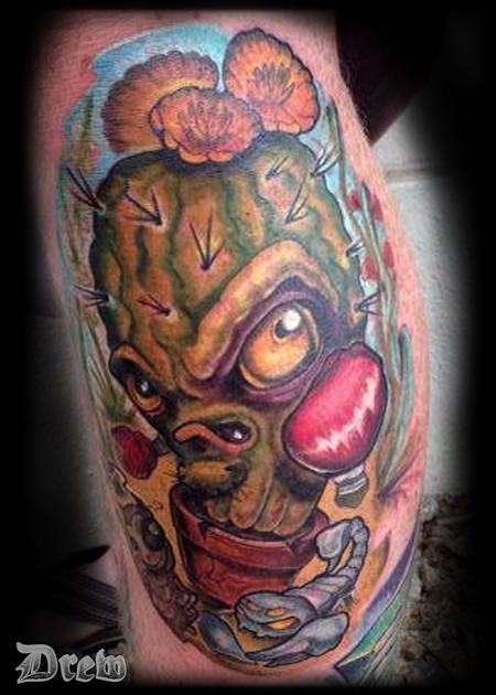 Tattoos - Barrel Cactus - 94598