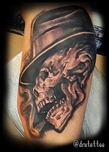 Tattoos - Mafia Skull - 126043