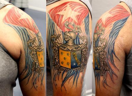 Tattoos - Lezcano Coat of Arms w/ Cuban Flag by Talo - 74221