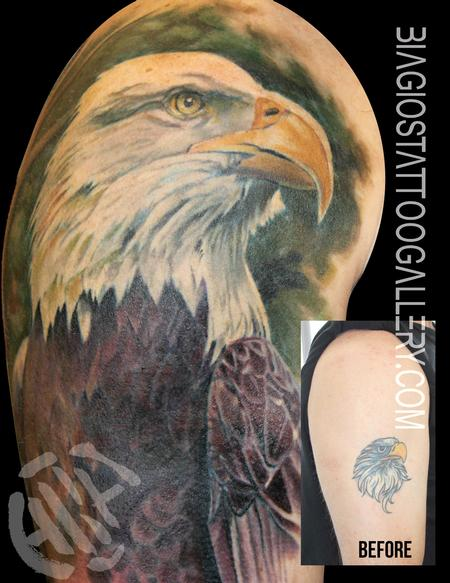Tattoos - Bald Eagle Cover-Up - 106243