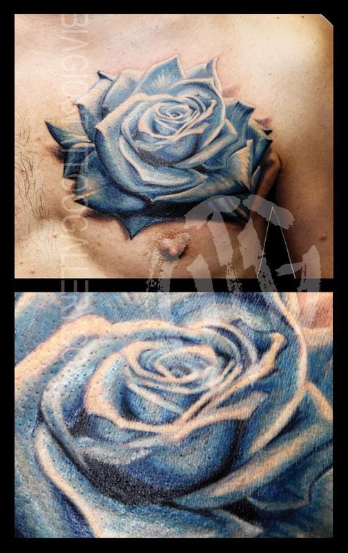 Blue Rose By Rob Talo By Rob Talo Tattoonow