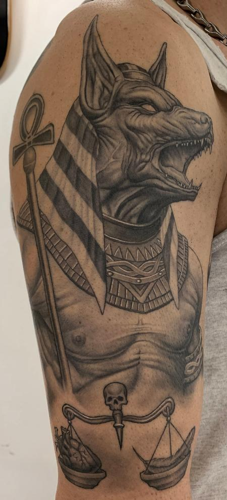 Bob Tyrrell - Anubis Tattoo - Healed
