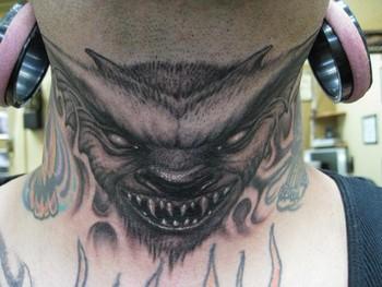 Tattoos - Throat Tattoo - 39444
