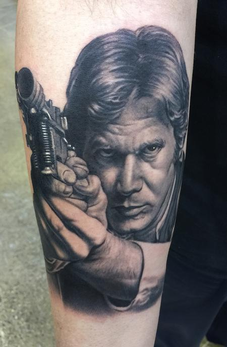 Tattoos - Han Solo Portrait Tattoo - 137900