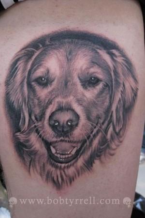 Tattoos - Dog Portrait Tattoo - 34615