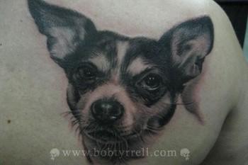 Tattoos - Dog Portrait Tattoo - 34614