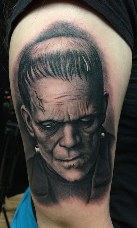 Tattoos - Frankenstein Portrait Tattoo - 115676