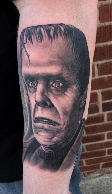 Tattoos - Herman Munster Monster Tattoo - 115679