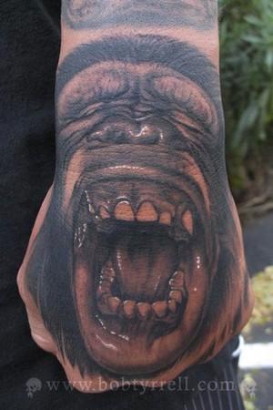 Tattoos - Monkey hand - 34609