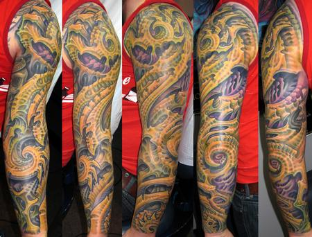 Tattoos - Biomech Sleeve - 114074