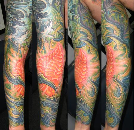 Tattoos - Biomech Half Sleeve - 114076