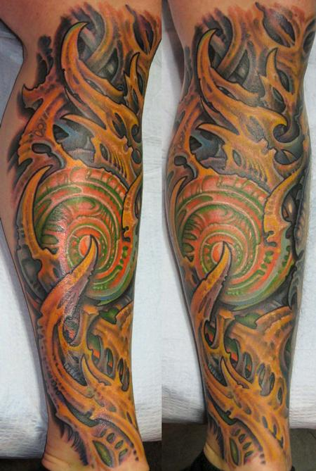 Tattoos - Biomech Lower Leg  - 114079