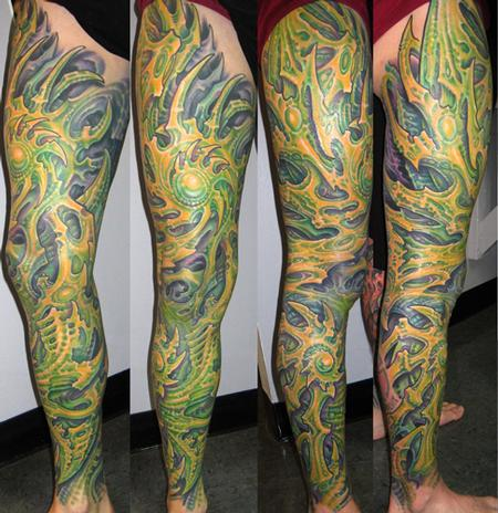 Tattoos - Biomech Leg Sleeve  - 109430